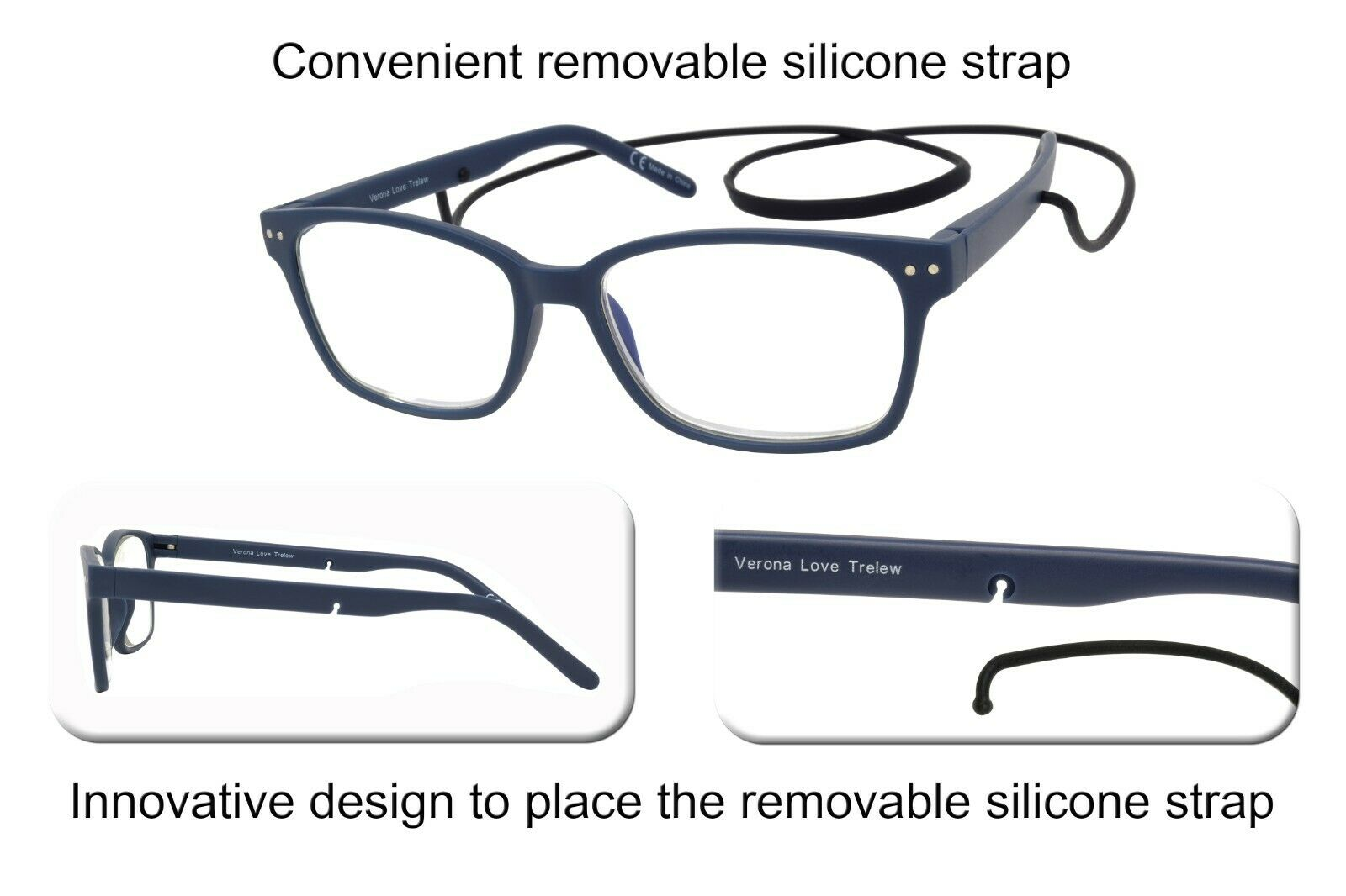 TRELEW Blue Light Blocking Lenses Computer Reading Glasses Unisex + 3.50 - Blue Light Blocking Eyewear