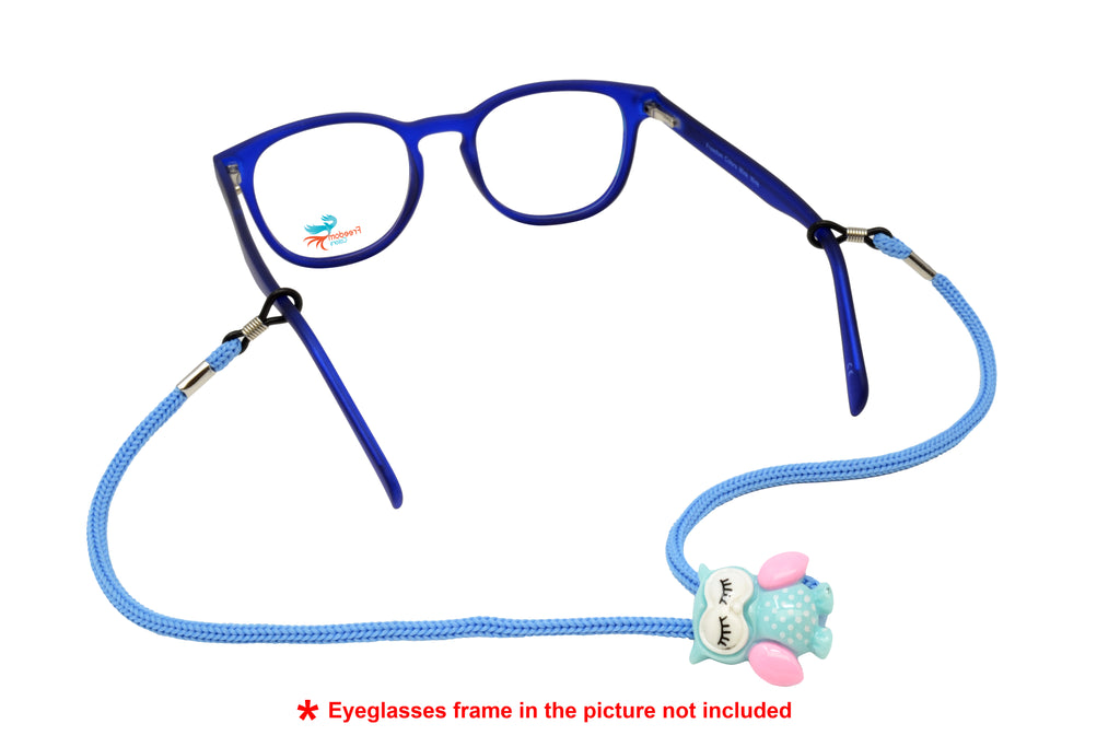 Kids Adjustable Eyeglass Retainer Funny Owl (Blue)