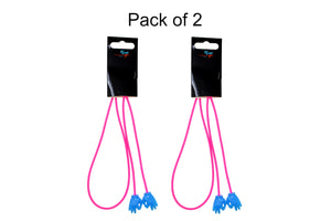 2 Pack non-slip rubber glasses holder straps, unisex. Fuchsia/Blue
