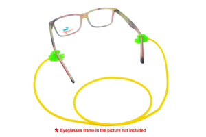 2 Pack non-slip rubber eyeglasses holder straps, unisex. Yellow/Green