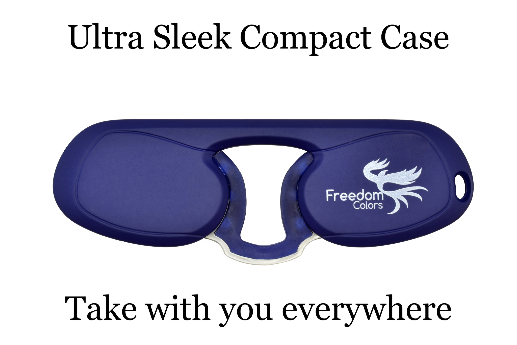 Pince Nez style Ultra Slim Reading Glasses. Navy +1.00 Strength