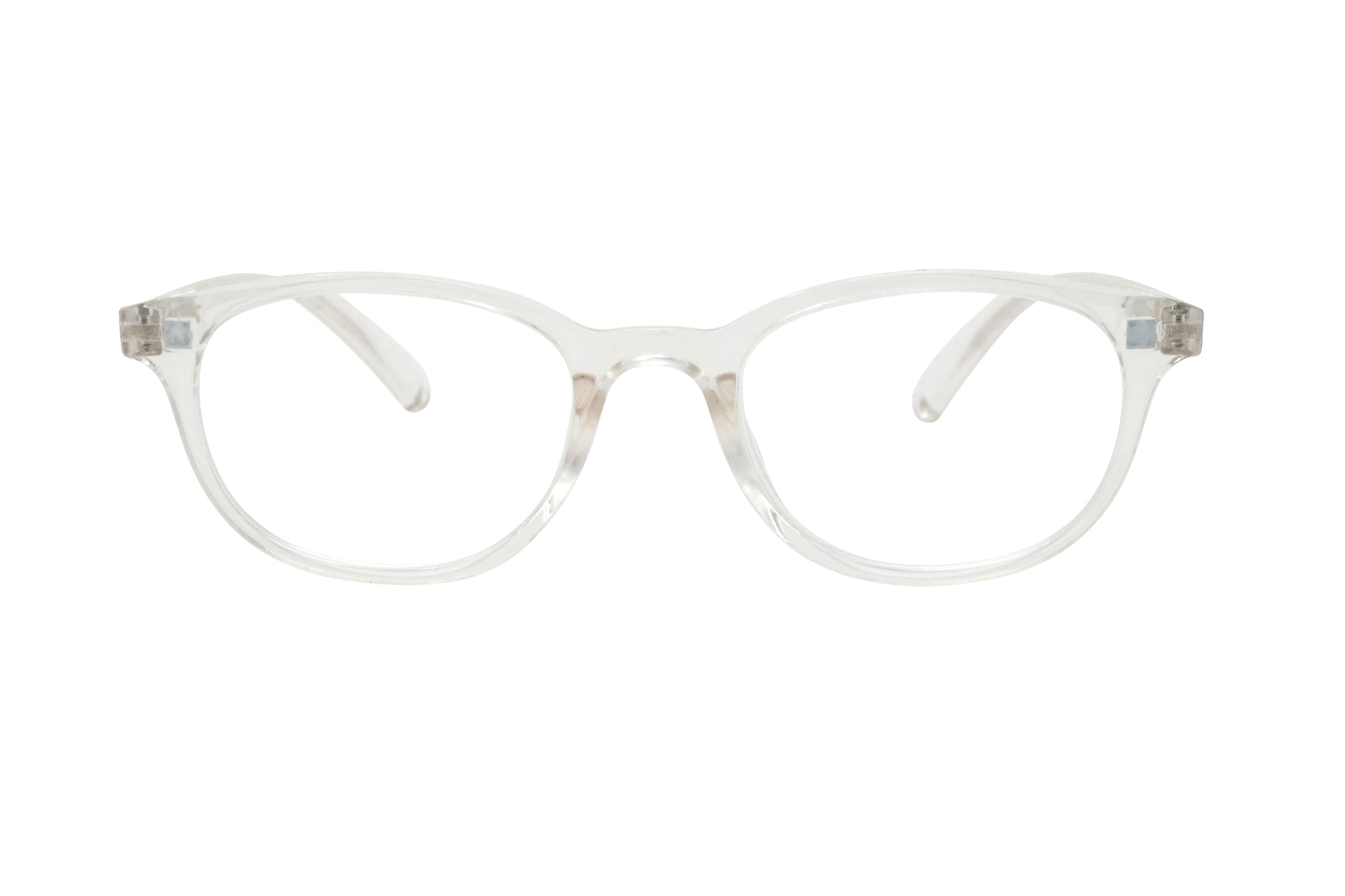 ALANNAH. Crystal. Reading glasses with polarized clip-on for women. +2.50 Strength
