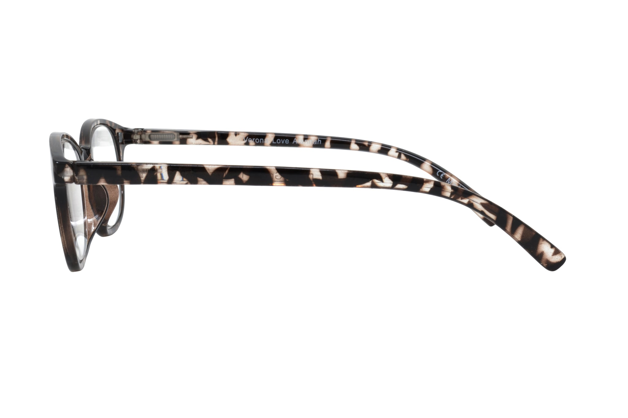 ALANNAH. Reading glasses with polarized clip-on for women. +4.00 Strength