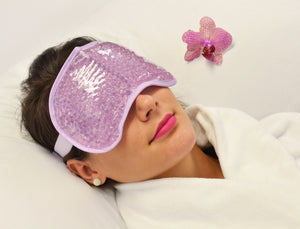Therapeutic Bead Pearl Gel Eye Mask & Body Wrap Hot. Violet