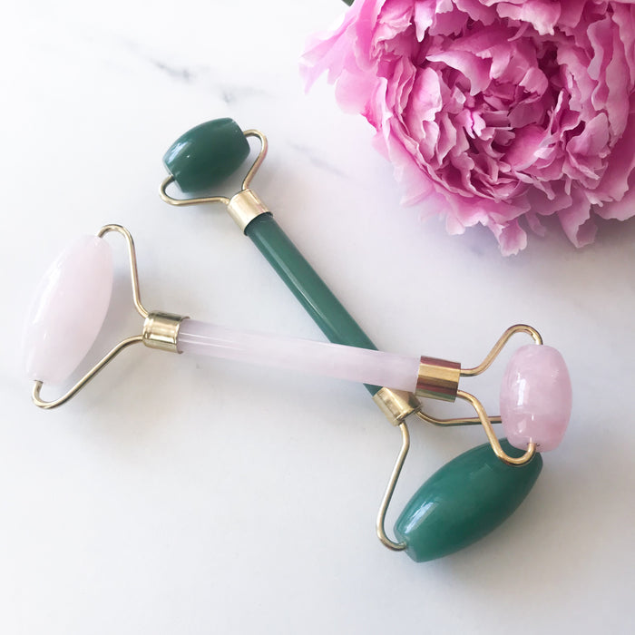 Jade & Rose Quartz Facial Roller