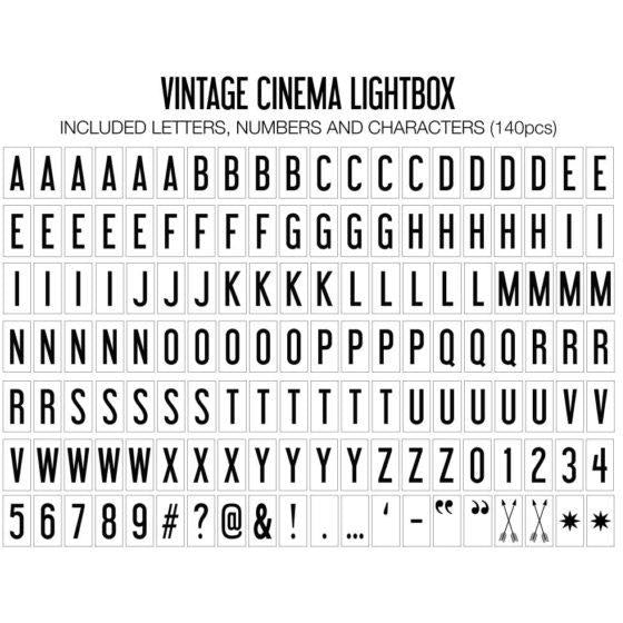 Cinema Lightbox Vintage