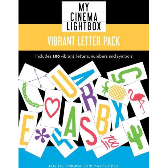 Cinema Lightbox Vibrant Letter & Symbol Pack for Original/Vintage
