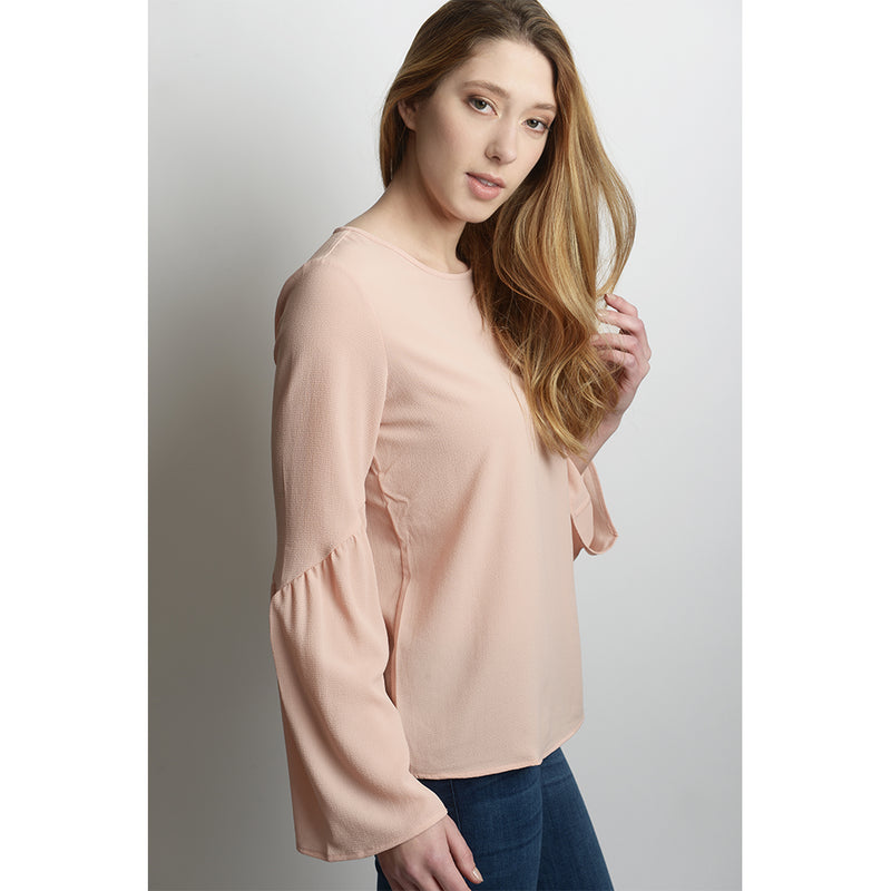 Flori Bell Sleeve Crepe Blouse (available in additional colours)
