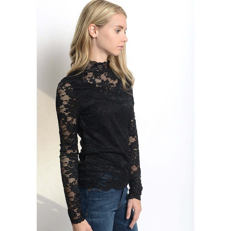 Joy High Neck Lace Top