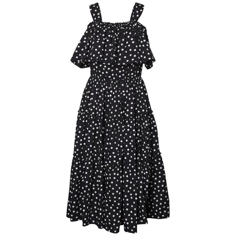 Loka Cold Shoulder Polka Dot Dress
