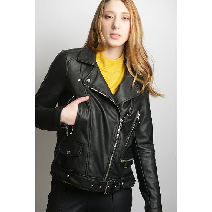 Faux Leather Moto Jacket (online only)