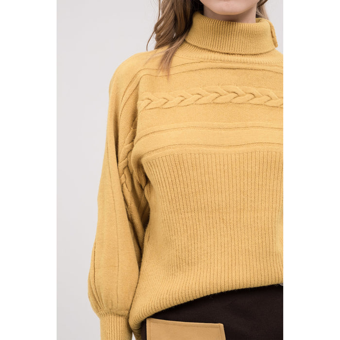 Ally Turtleneck Cable Knit Sweater