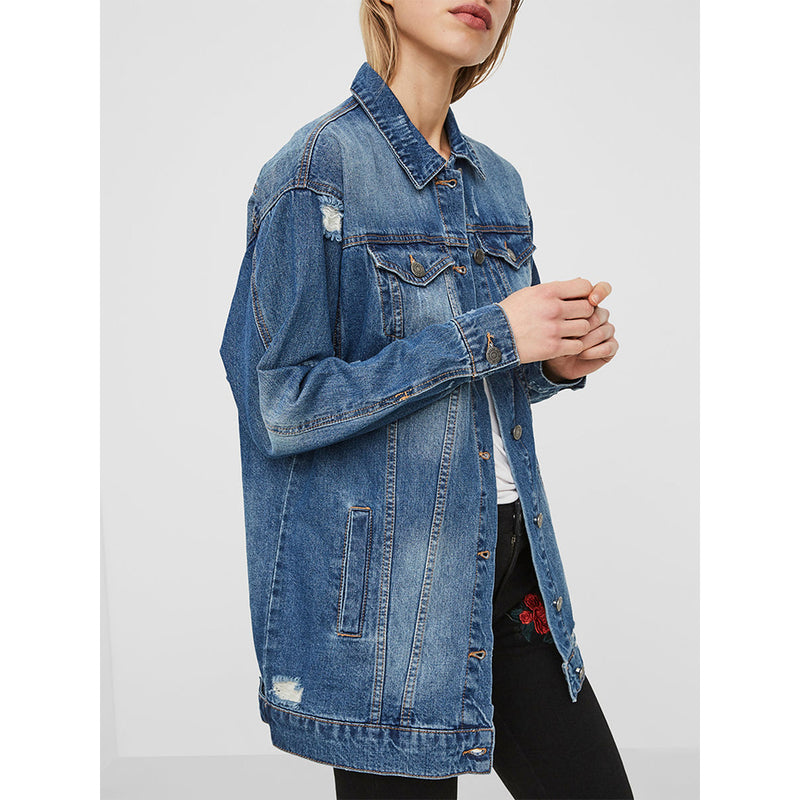 Angie Distressed Denim Jacket