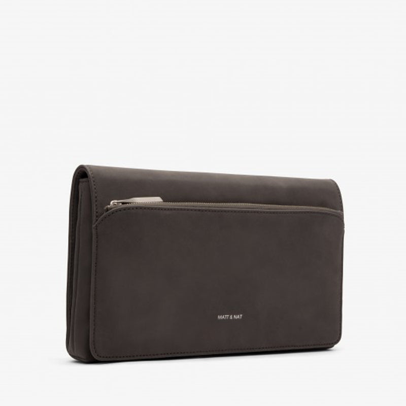Petite Faux Suede Clutch (available in Black & Grey)