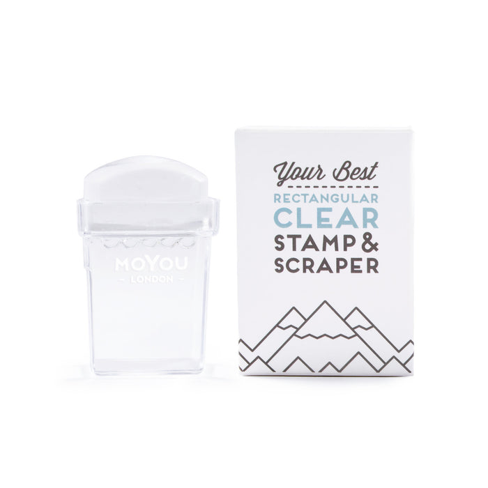 Rectangular Clear Stamper & Scraper
