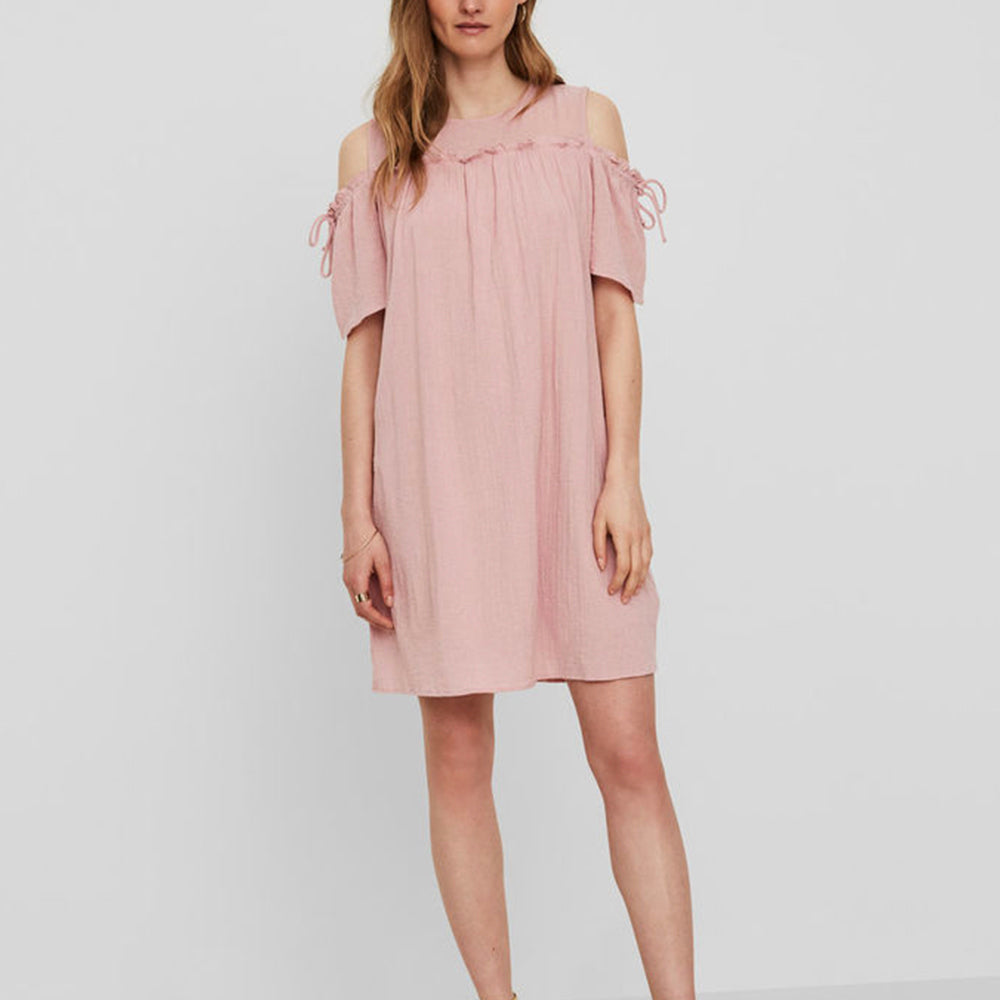 Sky Cold Shoulder Dress