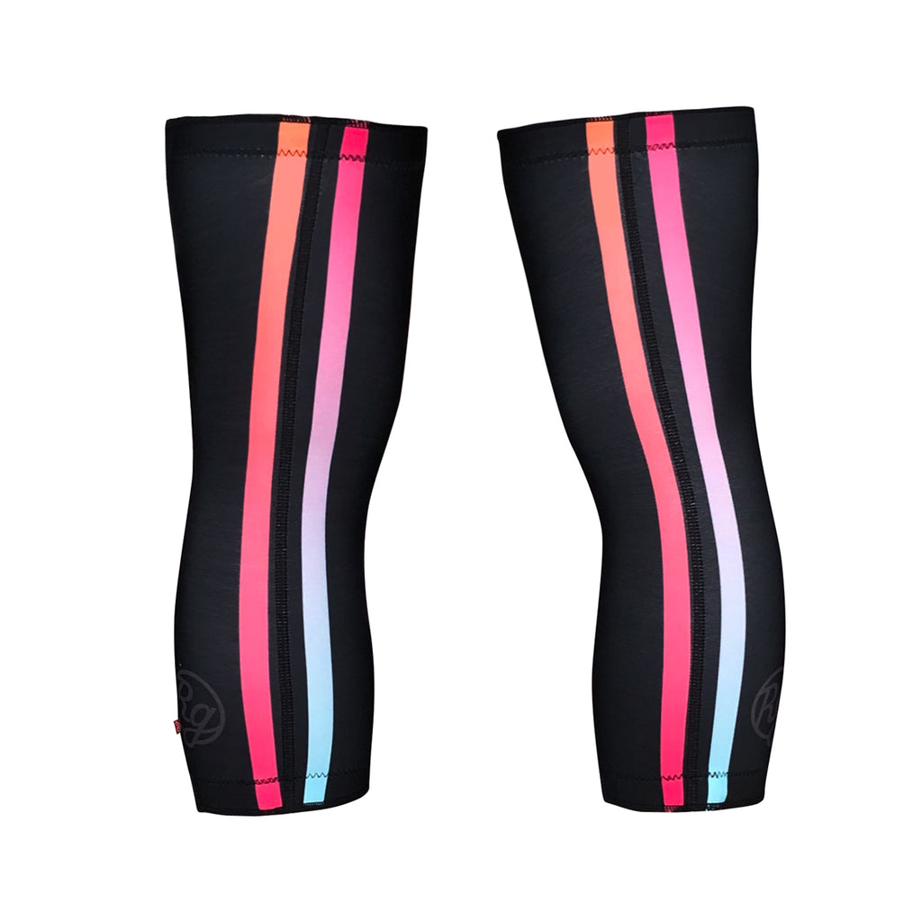 Flashy Black Knee Warmers (Unisex)