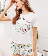 Avocado Print Pajama Set