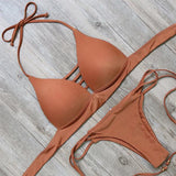 Solid Color Push-Up Bikini