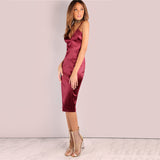 Chianti Silk Bodycon Dress