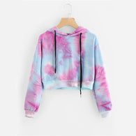 Water Color Cropped Hoodie