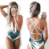 Deep Plunge Tropical One Piece