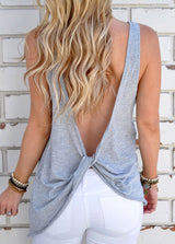 Open Back Knotted Tank