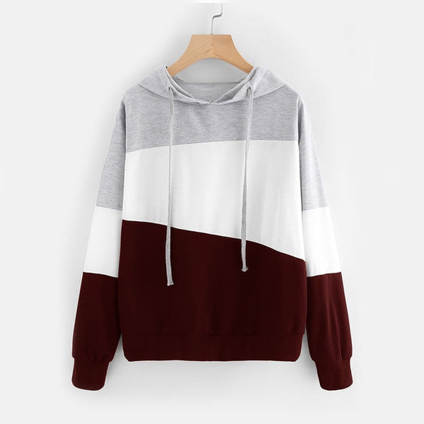 Fresh Color Block Hoodie