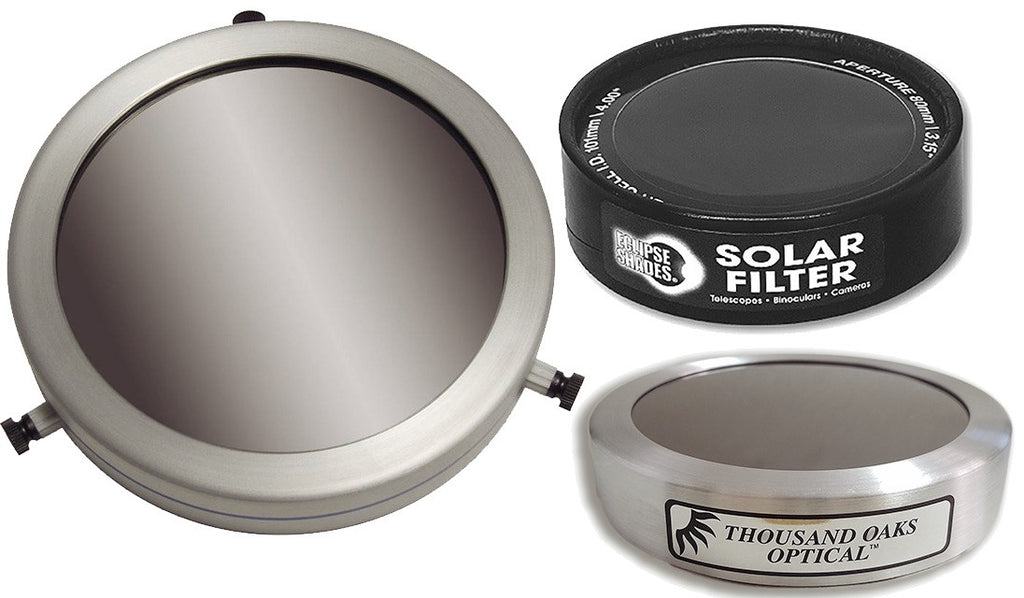 Solar Filters for Telescopes and Cameras