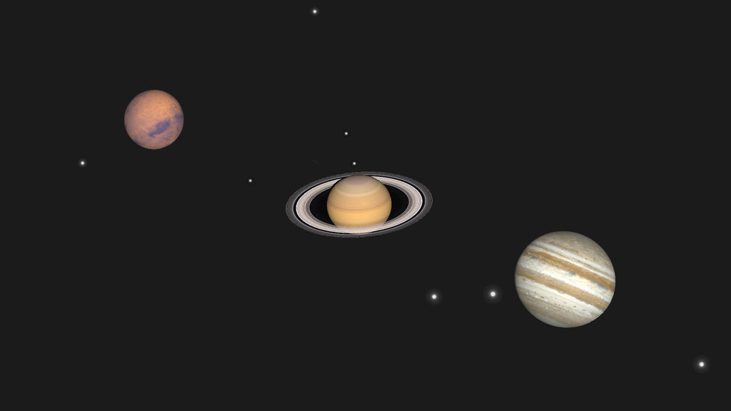 The 2018 Summer Parade of Planets: Mars, Jupiter, & Saturn