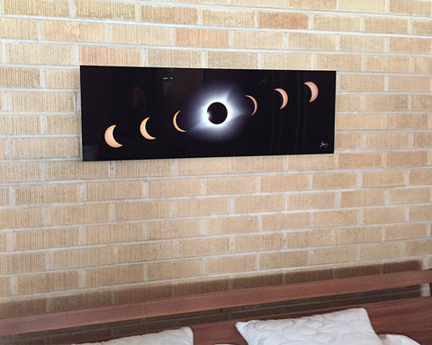 2017 Eclipse Timelapse Panorama on Metal (3:1)