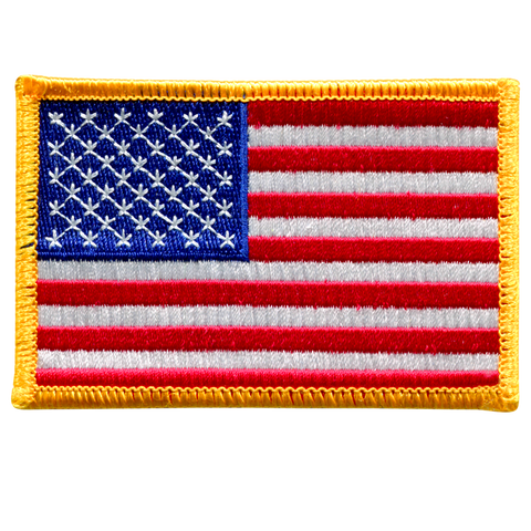 American Flag - Gold Border