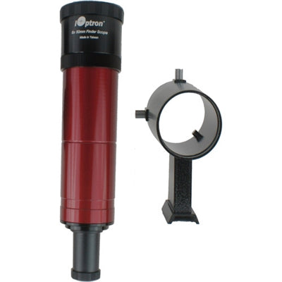 iOptron Finder Scope 8X50mm with bracket (red)