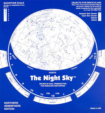 Cardboard Night Sky Planisphere Northern Hemisphere