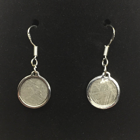 Meteorite Circle Earrings