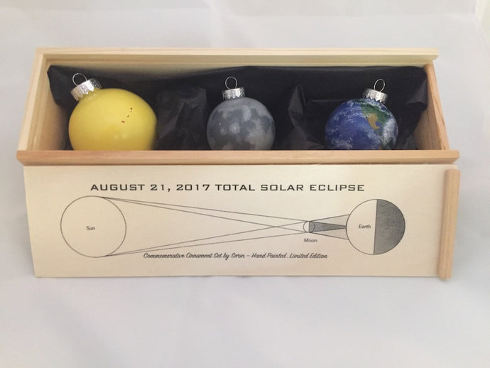 2017 Solar Eclipse Hand Painted Ornament Set (Edition of 21)