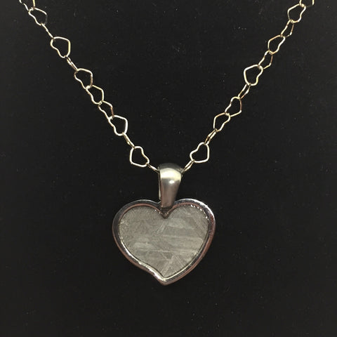 Meteorite Heart Pendant Necklace