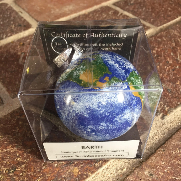 Earth Hand Painted Ornament