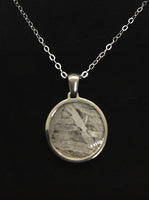 Seymchan Meteorite Circle Pendant Necklace