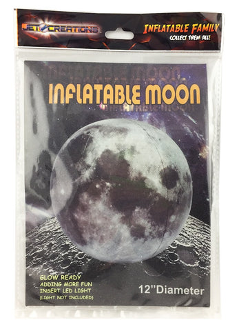 "12"" Inflatable LED Moon"
