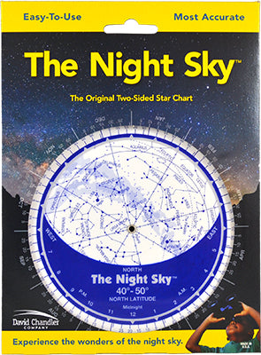 The Night Sky 40°-50°N (Small Plastic)