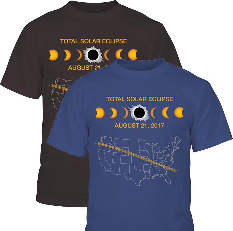 2017 Total Solar Eclipse T Shirt Mile High Astronomy