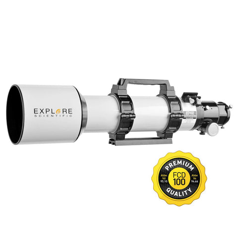 Classic White Aluminum ED102 f/7 APO Triplet with Hoya FCD100 optics