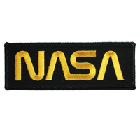 NASA Worm Gold on Black Patch