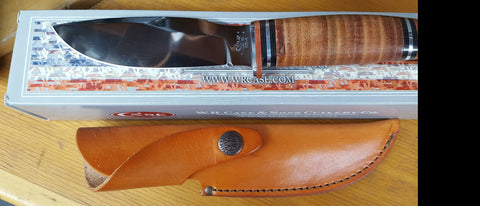 Case Leather Hunter Drop Point