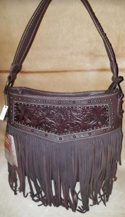 Montana West Red Fringe Conceal Carry Purse