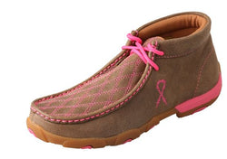 Women's Driving Moccasins – Bomber/Neon Pink