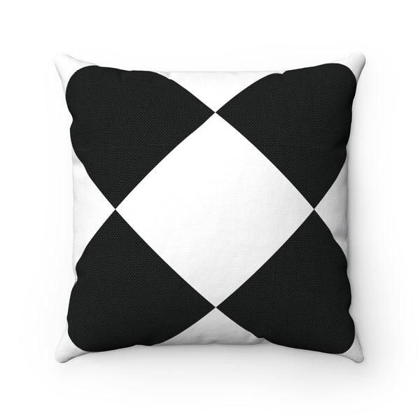 Large White Checkered Pillow Pillows Direct