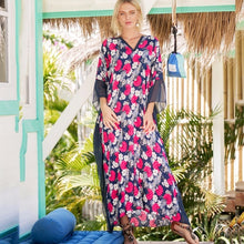 African Ethnic Print Kaftan Maxi Dress