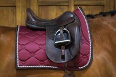 PS of Sweden Merlot Monogram Dressage Saddle Pad
